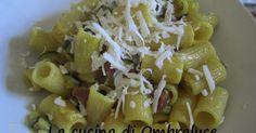 La cucina di Ombraluce: Mezze maniche con zucchine e prosciutto crudo allo zafferano