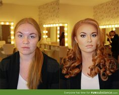 What makeup can do. Mind blown.