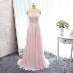 pink prom dresses,backless prom dresses,long elegant prom dresses,Chiffon prom…