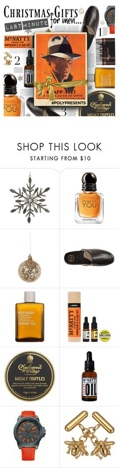 """""""#PolyPresents: Last-Minute Gifts"""" by foolsuk ❤ liked on Polyvore featuring Parlane, John Lewis, Shishi, L.B. Evans, men's fashion and menswear"""