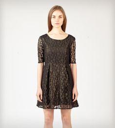 Black & Gold Lace Babydoll Dress | Women's Clothing | Jaleh | Scoutmob Shoppe | Product Detail