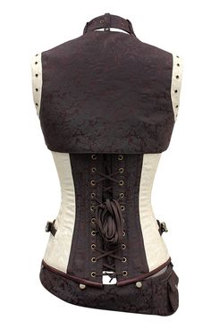 The Violet Vixen - Alustrial Cloud Captain White Corset, $112.50 (http://thevioletvixen.com/corsets/alustrial-cloud-captain-white-corset/)