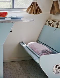 Storage is everywhere in this renovated Serro Scotty camper