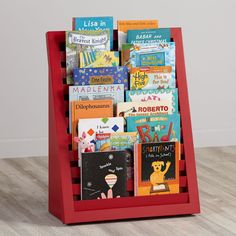 Shop Venetian Bookcase (Red).  The tiered design of our Venetian Bookcase (Red) puts all of your kids' favorite books right at their level.  Shop kids bookcases today.