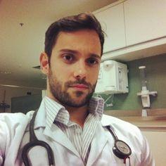 "rosaparking: "" yes doctor i cant feel my clitoris "" Hot Doctor, Male Doctor, Beautiful Men Faces, Gorgeous Men, Beautiful People, Hairy Men, Bearded Men, Hunks Men, Men In Uniform"