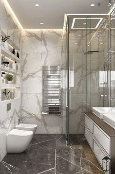56 simple and beautiful bathroom decorating ideas 2020 55 Bathroom Design Luxury, Modern Bathroom Design, Home Interior Design, Interior Ideas, Dream Bathrooms, Beautiful Bathrooms, Small Bathroom, Bathroom Design Inspiration, Bad Inspiration