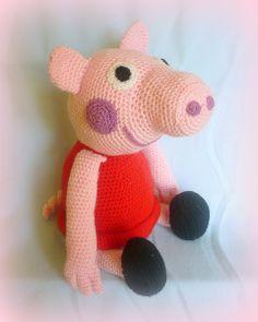 häkeln Peppa Pig  - PDF Pattern Anleitung von Crochetland auf DaWanda.com
