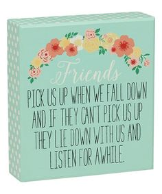Another great find on #zulily! 'Friends Pick Us Up' Box Sign #zulilyfinds