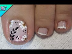 Pedicure Designs, Pedicure Nail Art, Toe Nail Designs, Toe Nail Art, Pretty Toe Nails, Cute Toe Nails, Pink Nails, Gel Nails, French Toe Nails