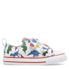 b8947e4af2aa Chuck Taylor All Star Dinoverse 2V Toddler Low Top White