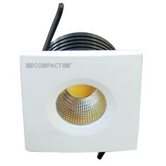 4W BUTTON COB LED Downlight Square - LED Downlight COB Book Now: http://www.compactlighting.net/led-fixtures/led-downlights/led-downlight-cob/4w-button-cob-led-downlight-square.html