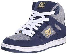 DC Shoes Spartan High - Zapatillas de Deporte de Cuero para Niña, Color Azul (Insignia Blue), Talla 37