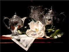 "Silver and Crystal w/Magnolia - Laurin McCracken, Fort Worth TX --Vivian ""Chevy"" Chevillon Memorial Award"