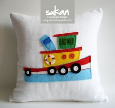 Love this pillow for baby boy