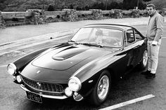 Steve McQueen and his 1963 Ferrari 250 GT Berlinetta Lusso...Come on, how cool was he?