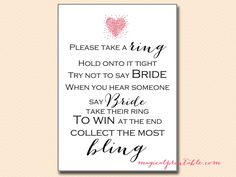 Love is in the Air Bridal Shower Game Pack, dont-say-bride