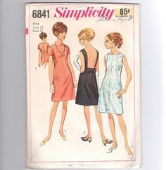 Simplicity 6841 Vintage Sewing Pattern 1966 by LadyWisenBelle, $9.00