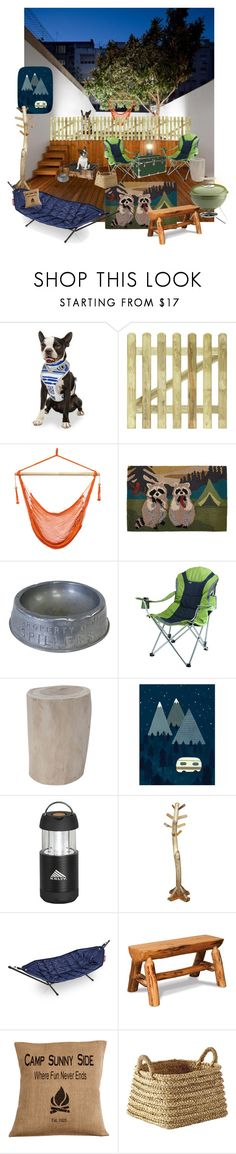 """""""back porch camp"""" by sterlingkitten on Polyvore featuring interior, interiors, interior design, home, home decor, interior decorating, R2, BLISS Hammocks, Liora Manné and Picnic Time"""