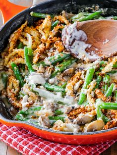 Skillet Green Bean Casserole is the ultimate Thanksgiving side dish