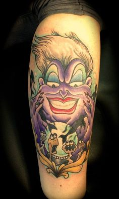 LOVE this Ursula tattoo, ugh I wish I could get her and Hades together c: