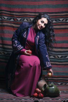 In Armenian traditional garments