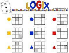 Atelier mathématique : LOGIX   Apprendre... Autrement! Board Game Themes, Math Board Games, Math Boards, First Grade Math Worksheets, Preschool Worksheets, Logic Games For Kids, Math Blocks, Cognitive Therapy, Subtraction Worksheets