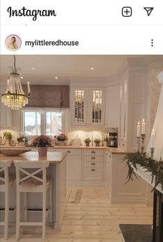 Home Decor Kitchen, Kitchen And Bath, Kitchen Ideas, Kitchen Designs, Home Interior, Interior Decorating, Farmhouse Kitchen Inspiration, Swedish Kitchen, Home Room Design