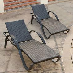 RST Brands Deco Chaise Lounges Set of 2 - Espresso, Brown Pool Lounge Chairs, Lawn Chairs, Outdoor Chairs, Outdoor Decor, Outdoor Lounge, Wood Patio Furniture, Outdoor Furniture Sets, Chaise Lounges, Backyard Paradise