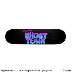 Rayshine GHOSTTOWN™ Purple & Blue Black Skateboard