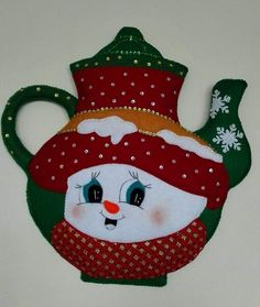 Snowman, Sewing Projects, Applique, Patches, Christmas Ornaments, Holiday Decor, Pink, Crafts, Restaurant