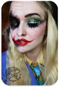 Bourgeois Shangri-La: The Good vs. the Evil #1: Joker This is my Make-Up inspired by the one and only Joker, the worst enemy of Batman. What you see here is only the photoshop collage since I originally created two looks.  Check the (german) blogpost here: http://goldiegrace.blogspot.de/2013/04/the-good-vs-evil-1-joker.html