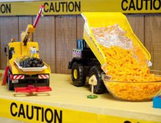 garbage truck themed birthday party food | Construction & Trucks Themed Birthday Party - Personalized Books for ...