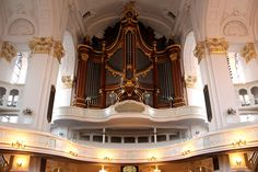 Organ of the St. Michael's Church in Hamburg, Germany.