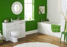 Guest bathroom decor ideas with bright color | Decolover.net
