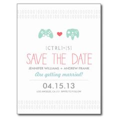 Gamer Save the Date #wedding