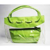 Patent Leather Clear Tote Bag (Green) (Baby Product)  #MileyCyrus #melaniexeinalem