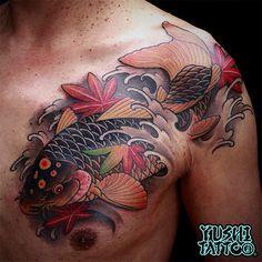 Trendy Ideas For Tattoo Dragon Skull Jack Oconnell Full Body Tattoo, Body Art Tattoos, Fish Tattoos, Tatoos, Japanese Koi Fish Tattoo, Japanese Tattoo Designs, Neck Tattoo For Guys, Tattoos For Guys, Dragon Tattoo With Skull