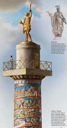 Columna de Trajano Roman Architecture, Sacred Architecture, Historical Architecture, Rome History, Ancient History, Art History, Roman Art, Ancient Artifacts, Ancient Rome