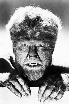 """Lon Chaney, Jr. aka """"The Wolfman"""" The first and ONLY actor to scare me half to death."""