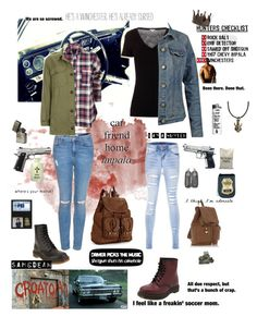 """""""Winchester sisters"""" by winchestergirl-x ❤ liked on Polyvore featuring Topshop, James Perse, Fat Face, Dr. Martens, Mudd, Warehouse, Cyan Design, SAM, samwinchester and DeanWinchester"""