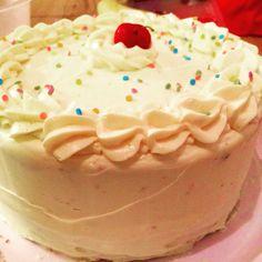 Confetti birthday cake