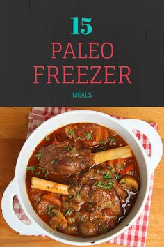 Looking for the Easy Button? Check out these 20 Paleo Freezer Meals! Get recipes full of flavor like meatloaf muffins, kalua pork and Pineapple Teriyaki Pork that are easy pull out the freezer and cook. Slow Cooker Freezer Meals, Healthy Freezer Meals, Make Ahead Meals, Freezer Cooking, Freezer Recipes, Paleo Crockpot Meals, Freezable Meals, Batch Cooking, Paleo Menu