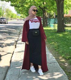 hoda – Hijab World Hijab Fashion Summer, Modern Hijab Fashion, Street Hijab Fashion, Hijab Fashion Inspiration, Muslim Fashion, Modest Fashion, Fashion Outfits, Modest Wear, Modest Outfits