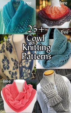 Cowl Knitting Patterns with many free knitting patterns at http://intheloopknitting.com/cowl-knitting-patterns/