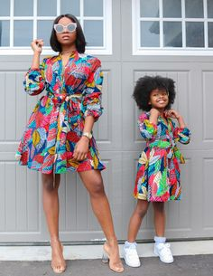 Amaechi by ace-kouture - Mid-length Dresses - Afrikrea Ankara Styles For Kids, African Dresses For Kids, African Wear Dresses, Latest African Fashion Dresses, African Print Fashion, African Attire, Ankara Fashion, Little Girl Dresses, Girl Clothing