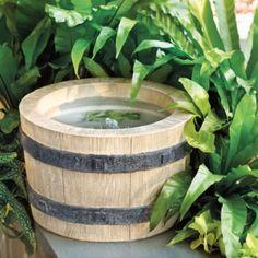 Faux Bois Barrel Fountain | Ballard Designs