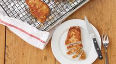 Up your pork chop game with a quick and easy (extra cheesy) breading.