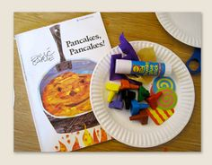 Pancakes, Pancakes by Eric Carle - craft (Fall or Spring) Children's Book Week, Block Area, Pre K Activities, Preschool Writing, Thanksgiving Preschool, Pancake Day, Teaching Letters, Eric Carle, Classroom Inspiration
