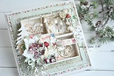 Create Christmas Cards, Christmas Card Crafts, Christmas Canvas, Mixed Media Scrapbooking, Frame Crafts, December Daily, Craft Fairs, Wedding Anniversary, Wedding Cards