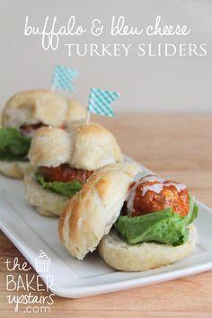 the baker upstairs: buffalo & bleu cheese turkey sliders